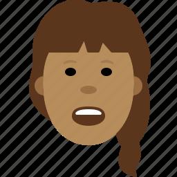 face, female, girl, person, smiley icon