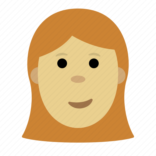 expression, face, female, girl, person, smiley icon