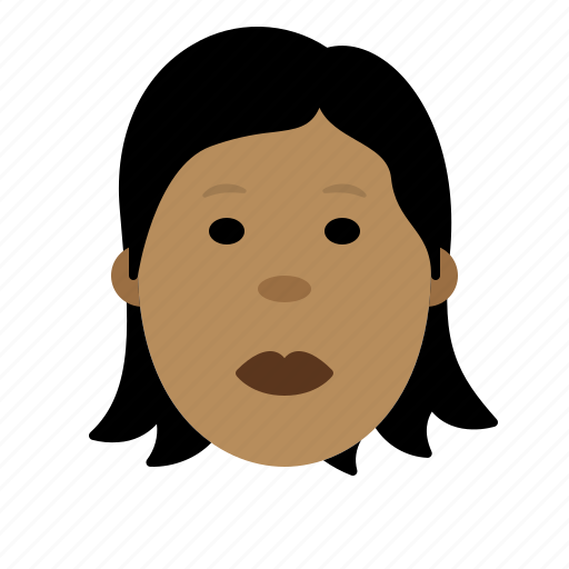 expression, face, female, girl, person icon