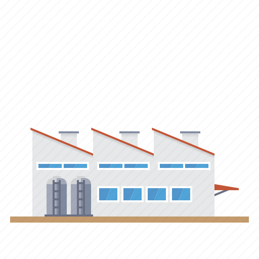 building, factory, gas tanks, industrial, industry icon