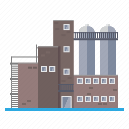 brick, building, chemical, factory, industrial, industry icon