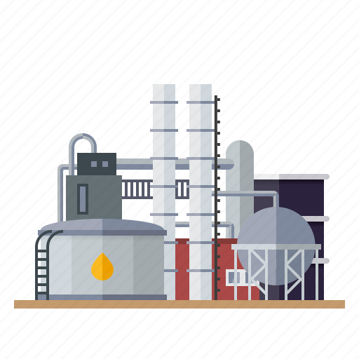 building, factory, industrial, industry, oil, refinery, tanks icon