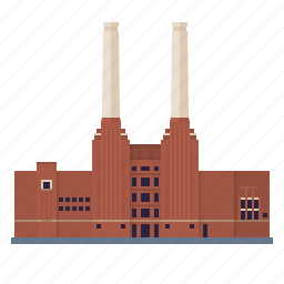 battersea, building, coal power plant, electricity, factory, industry, power generation icon