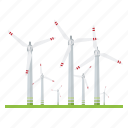 electricity, industry, power generation, power plant, renewable energy, sustainable energy, wind turbine icon