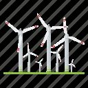 electricity, industry, power generation, power plant, renewable energy, sustainable energy, wind turbine icon