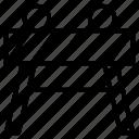 bar, block, hindrance, hurdle, obstacle, obstruction, stumbling block icon