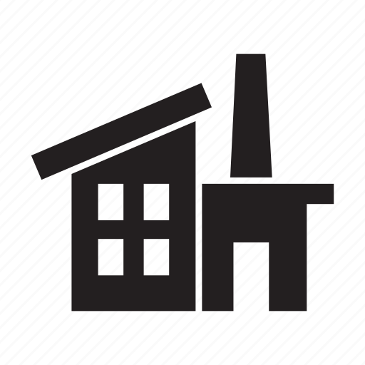building, company, corporate, factory, manufacturing icon