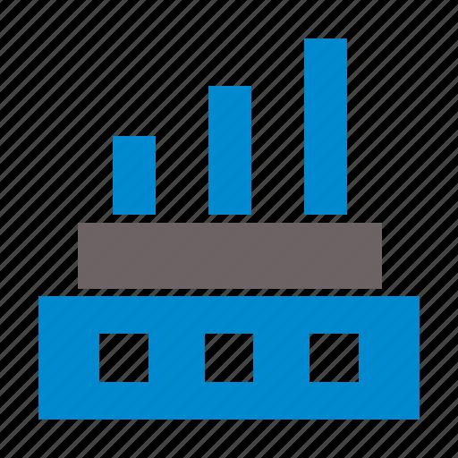 building, caompany, corporate, factory, manafacturing icon