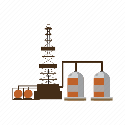 cartoon, construction, industrial, industry, plumbing, refinery, tube icon
