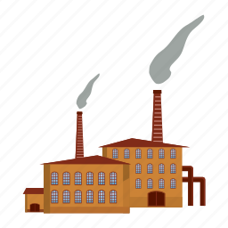 cartoon, chemical, fuel, industry, pipe, plant, refinery icon