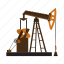cartoon, construction, industrial, industry, oil, rig, tube icon