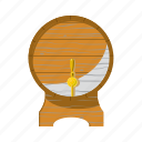 alcohol, barrel, beer, cartoon, keg, oktoberfest, wooden icon