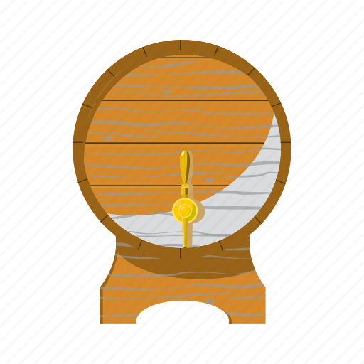 alcohol, barrel, beer, cartoon, keg, oktoberfest, wooden icon