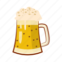 alcohol, beer, cartoon, glass, lager, mug, oktoberfest icon