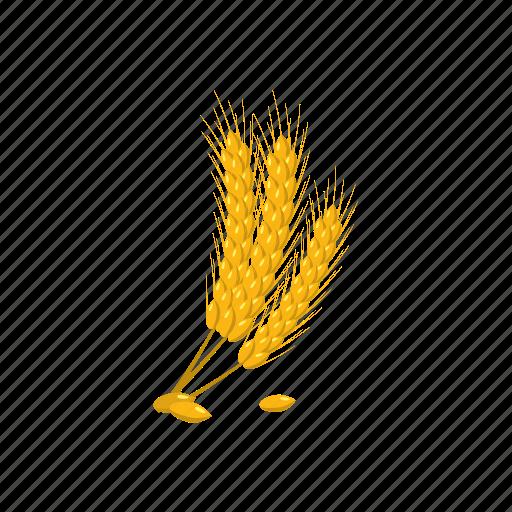 agriculture, barley, cartoon, ear, grain, oktoberfest, yellow icon