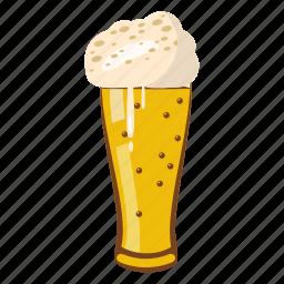 beer, beverage, cartoon, cold, drink, glass, oktoberfest icon