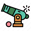 cannon, guns, pirates, weapon icon