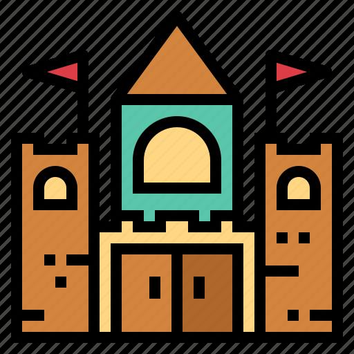 amusement, castle, entertainment, park icon
