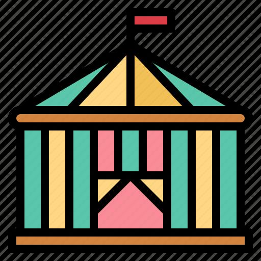 amusement, circus, fair, park, playground, tent icon
