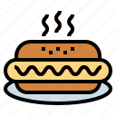 dog, fast, food, hot, mustard, sausage icon