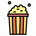fast, food, popcorn, salty, snack icon