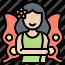 butterfly, fairy, fantasy, pretty, tale icon