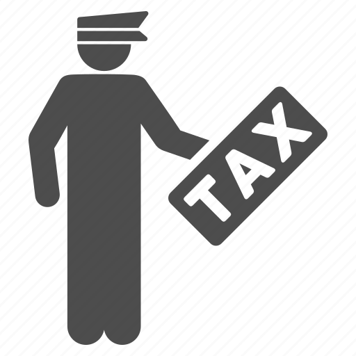 auditor, finance, financial, legal, tariff, tax officer, taxation icon