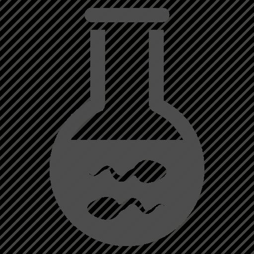 biology, flask, genetic science, genetics, laboratory, research, sperm icon
