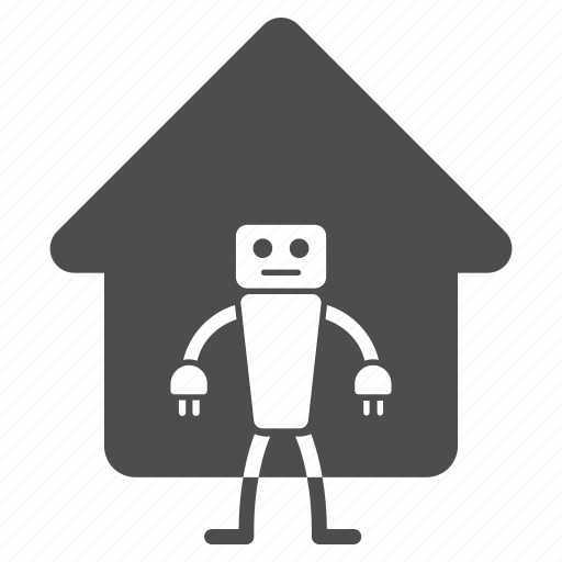 droid, electronic, home, house, mechanical worker, robot, robotics icon