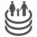 family, gate, parents, people, teleport hole, tunnel, web portal icon