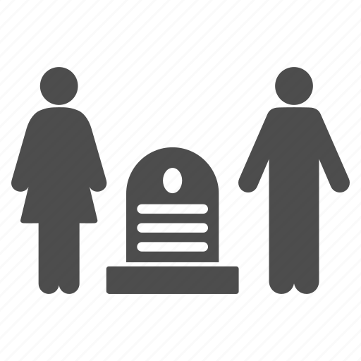 cemetery, dead relatives, death, family, funeral, grave, graveyard icon
