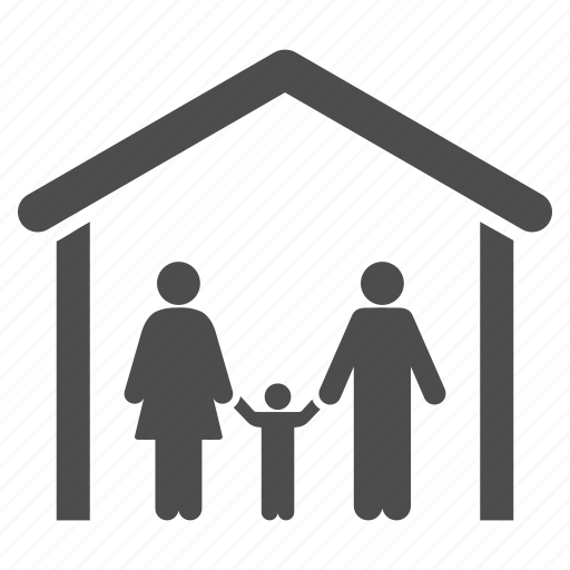cabin, cottage, family, home, house, real estate, relations icon