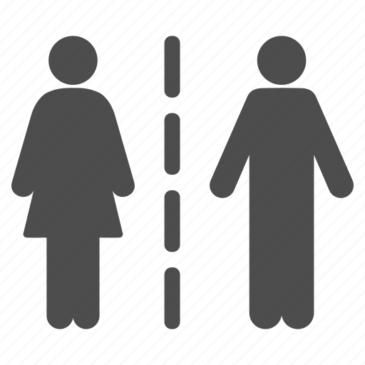 break, conflict, couple, divorce, family, separate line, separation icon