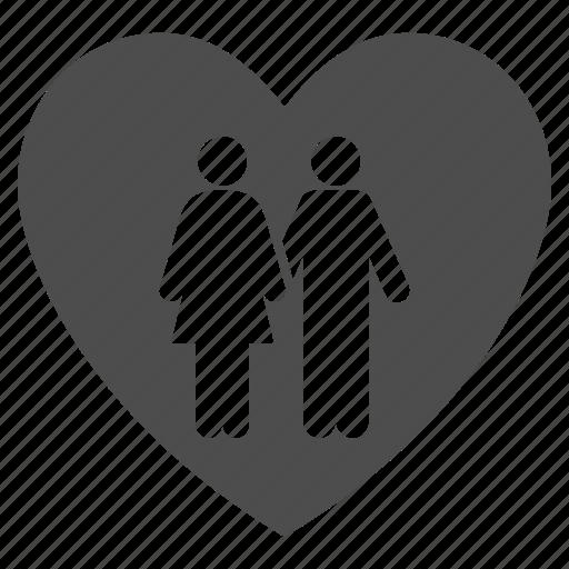 couple, family, heart, love, romance, romantic, valentine icon
