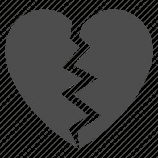 break, broken heart, dislike, divorce, drama, hate, unlove icon