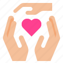 care, hand, insurance icon