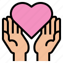 care, hand, love icon