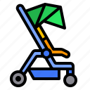 baby, carriage, stroller icon