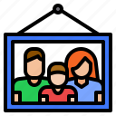 family, frame, picture icon