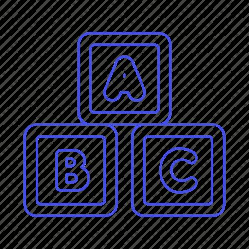 alphabet, baby, blocks, building, cube, family, learning, shape, toy icon