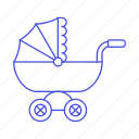 baby, carriage, family, pram, stroller, toddler, transport, trolley icon