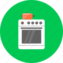 cooker, cooker stove, gas cooker, hob, kitchen, oven, stove icon