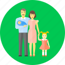family, baby, children, father, group, mother, newborn
