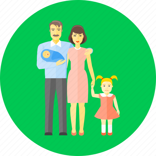 baby, children, family, father, group, mother, newborn icon