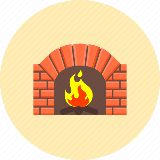 burn, chimney, fire, fireplace, flame, hot, warm icon