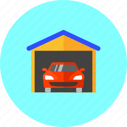 auto, automobile, car, car shed, garage, household, vehicle icon