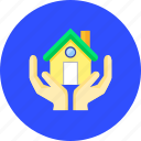 aquable, concordant, family, harmonious, harmony, house, sign icon