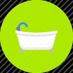 bath, bathroom, bathtub, hygiene, tub, wash, washing icon