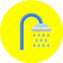 bath, bathroom, clean, drop, shower, wash, water icon