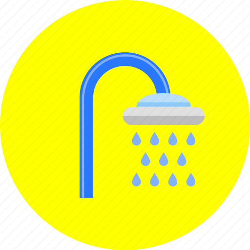 bath, bathroom, clean, drop, shower, wash, water icon
